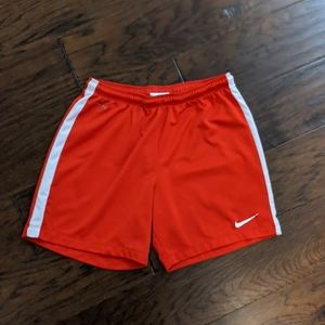 Boys size small red and white Nike Dri-FIT shorts